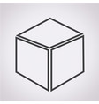3d cube icon vector image vector image