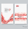 abstract poster brochure flyer design layout vector image vector image