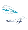 Airlanes in sky vector image vector image