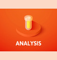 analysis isometric icon isolated on color vector image vector image