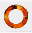 autumn leaves on geometric paper cut background vector image vector image