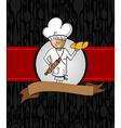 Baker cartoon menu design vector image vector image