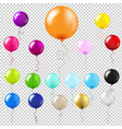balloons big set transparent background vector image