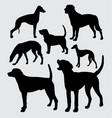 bark dog animal silhouette vector image vector image