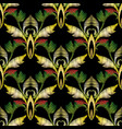baroque embroidery 3d seamless pattern vector image
