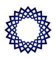 blue mandala frame vector image vector image