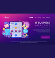 business process management concept landing page vector image vector image