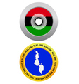 button as a symbol MALAWI vector image