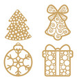 christmas decoration elements christmas vector image vector image