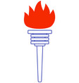 contour torch vector image vector image