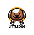 cute little dog cartoon logo icon vector image vector image
