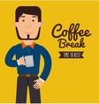delicious coffee break design vector image