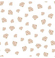 diamond seamless pattern golden hand drawn vector image vector image