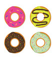 donut set in a modern flat style vector image vector image