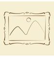 Elegant sketched picture frame vector image