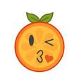 emoji - kiss orange smile isolated vector image vector image