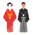 flat style of Japanese traditional clothing vector image