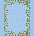 floral frame with holly vector image