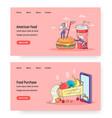 food online website landing page template vector image