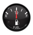 fuel gauge half full tank round black car vector image vector image