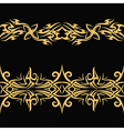 gold celtic pattern vector image
