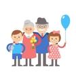 Grandparents with grandchildren on vector image vector image