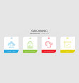 growing icons vector image vector image