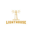 hand drawn light house designs inspiration vector image vector image