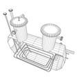 Heated barrel industrial tank eps10 format vector image