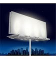 highway ad billboard roadside at night vector image vector image