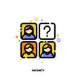 icon employees photos for vacancy or recruitment vector image vector image
