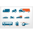 Icons set vehicles vector image vector image