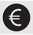 information icon - euro currency symbol vector image vector image