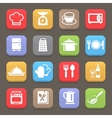 Kitchen cooking icons for web or mobile vector image vector image