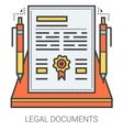Legal documents line infographic vector image vector image