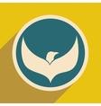 logo flying eagle vector image vector image