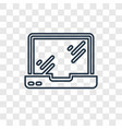 macbook concept linear icon isolated on vector image