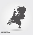 map netherlands vector image