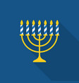 menorah and seven stripe candles icon vector image