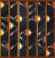 metal mosaic seamless pattern vector image