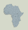 original map of the african continent vector image