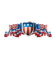 patriotic american background with shield vector image vector image