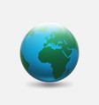 planet earth with green continents africa and vector image vector image