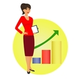 Political strategist is standing on the background vector image vector image