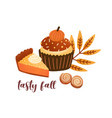 pumpkin spice pastry flat vector image vector image