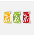 realistic design element pickled vegetables vector image vector image