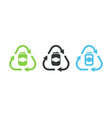 recycle aluminum can symbol vector image
