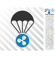 ripple parachute flat icon with bonus vector image vector image