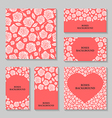 rose back set pink vector image vector image