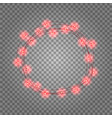round frame with glowing lights garlands red vector image vector image